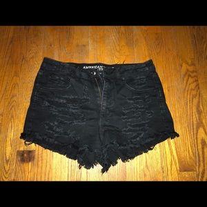 High rise black American Eagle shorts 🦅